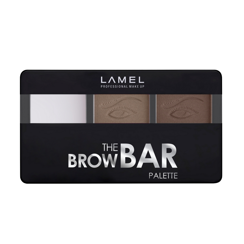 LAMEL PROFESSIONAL Набор для бровей (тени и воск) The Brow Bar Palette
