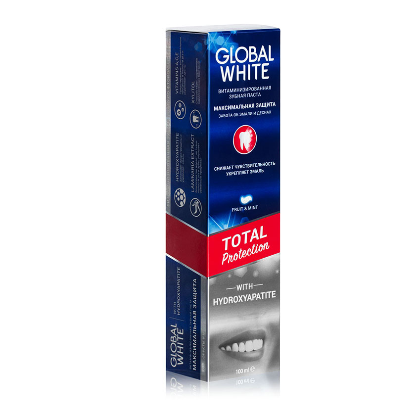 GLOBAL WHITE Витаминизированная зубная паста