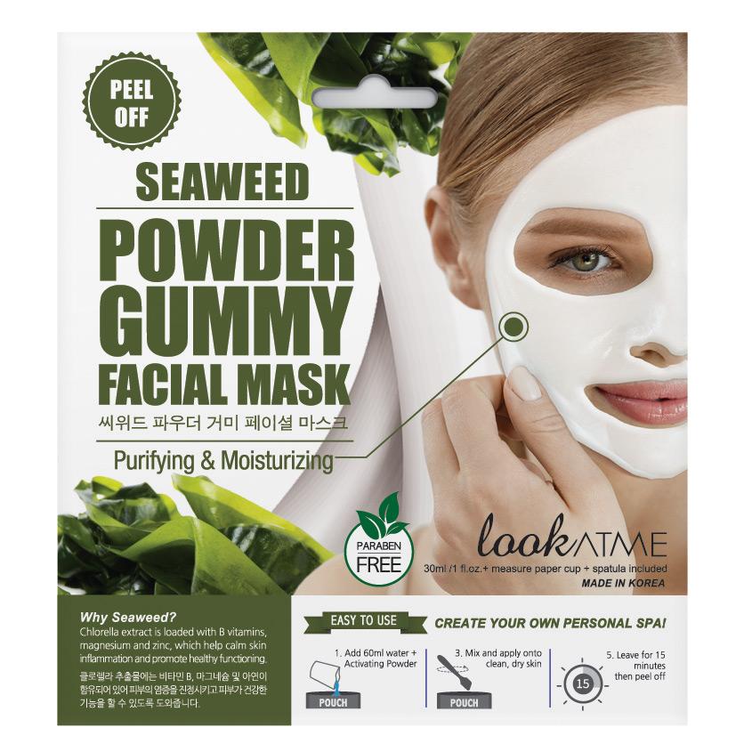 Купить LOOK AT ME Маска для лица альгинатная очищающая и восстанавливающая упругость кожи с экстрактом морских водорослей