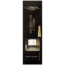 L`OREAL PARIS L'OREAL Гелевый лайнер для глаз Gel Intenza черный, 2,8 г l oreal paris super liner le smoky карандаш для глаз 207 черничный сорбет