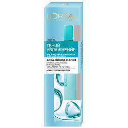 LOREAL PARIS LOREAL Аква-флюид для лица для нормальной и склонной к сухости кожи Гений Увлажнения 70 мл