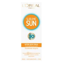 L`OREAL Классический солнцезащитный крем для лица СПФ 30
