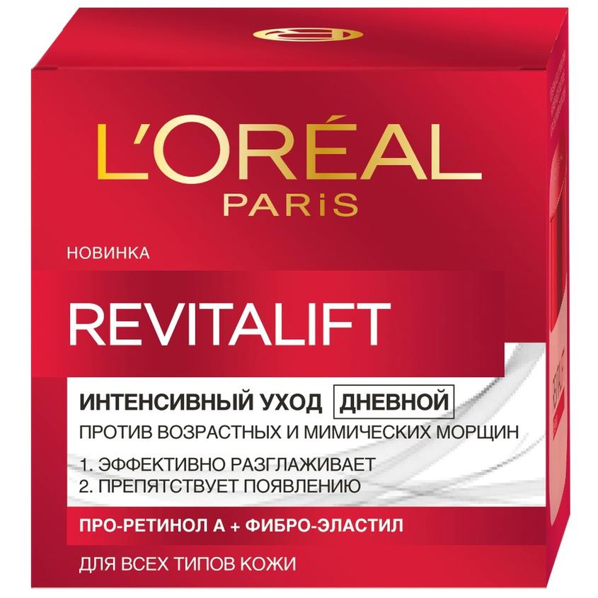 Купить L`OREAL Дневной антивозрастной крем Ревиталифт для лица, против морщин, L'ORÉAL PARIS