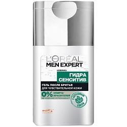 L`OREAL Гель после бритья с березой Men Expert HYDRA SENSITIVE для чувствительной кожи 125 мл