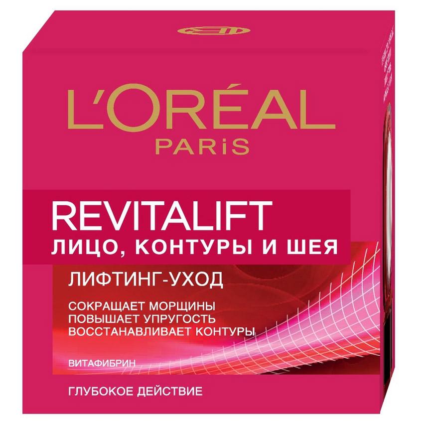 L'ORÉAL PARIS Антивозрастной крем «Ревиталифт» против морщин для лица, контуров и шеи
