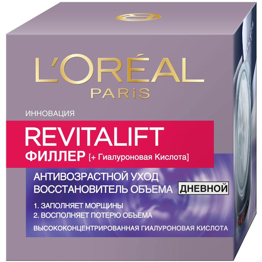 Купить L`OREAL PARIS Дневной антивозрастной крем Ревиталифт Филлер [ha] против морщин, для лица, L'ORÉAL PARIS