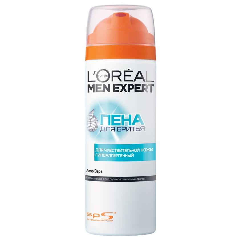 L'ORÉAL PARIS Men Expert Пена для бритья для чувствительной кожи, гипоаллергенная