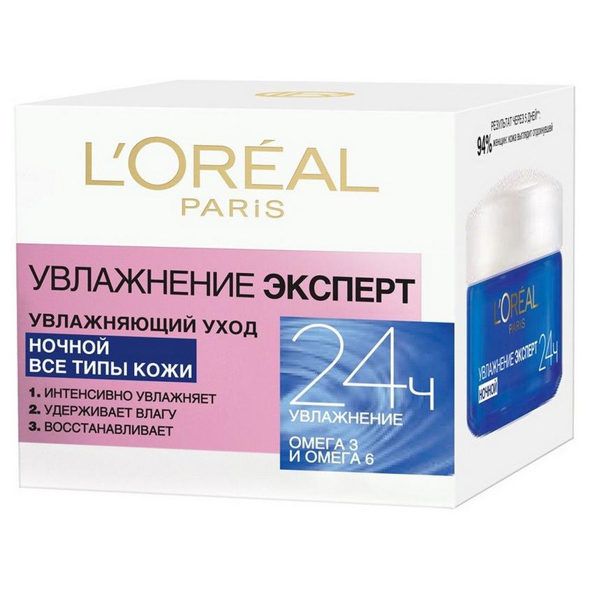 Купить L'ORÉAL PARIS Крем для лица Увлажнение Эксперт ночной, увлажняющий, для всех типов кожи