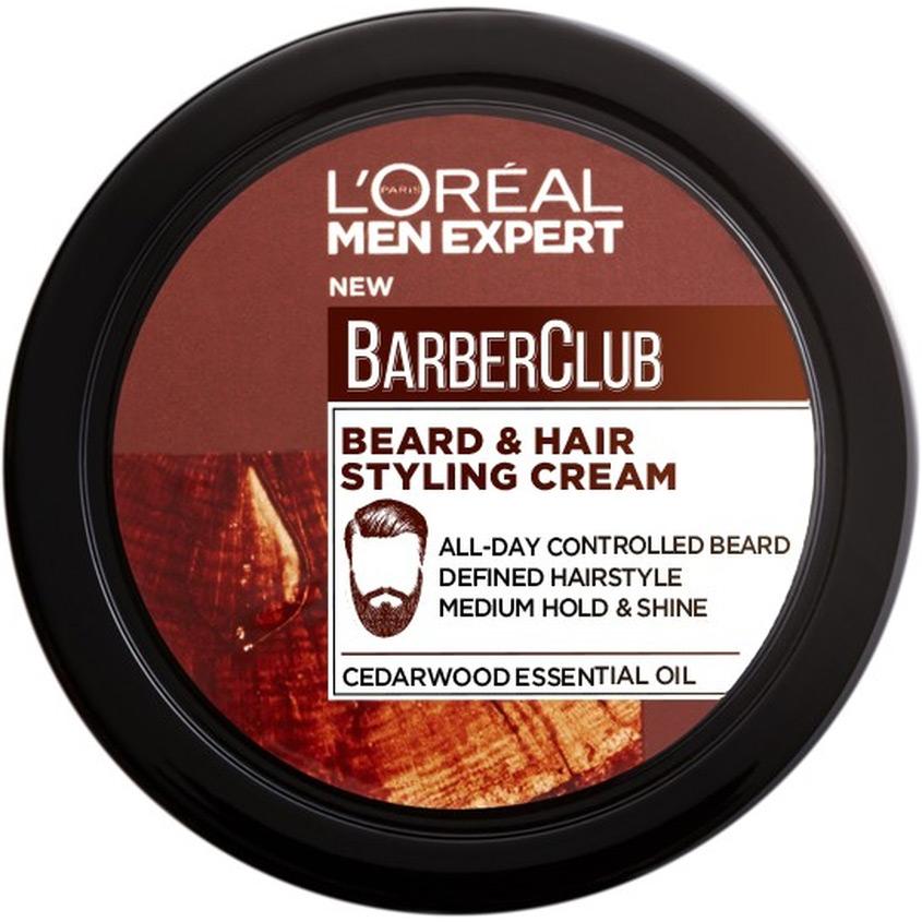 Купить L'OREAL PARIS Men Expert Barber Club Крем-стайлинг для Бороды + Волос, с маслом кедрового дерева, L'ORÉAL PARIS