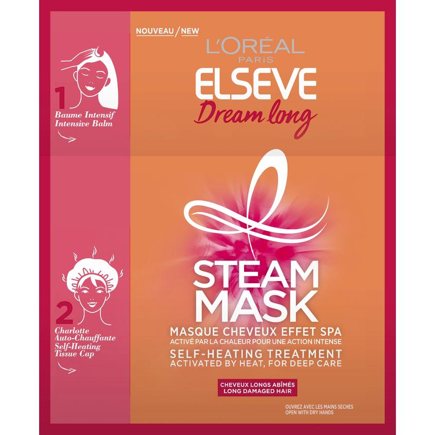 """ELSEVE Паровая маска """"Elseve Длина Мечты"""", интенсивное восстановление для длинных поврежденных волос, с кератином"""