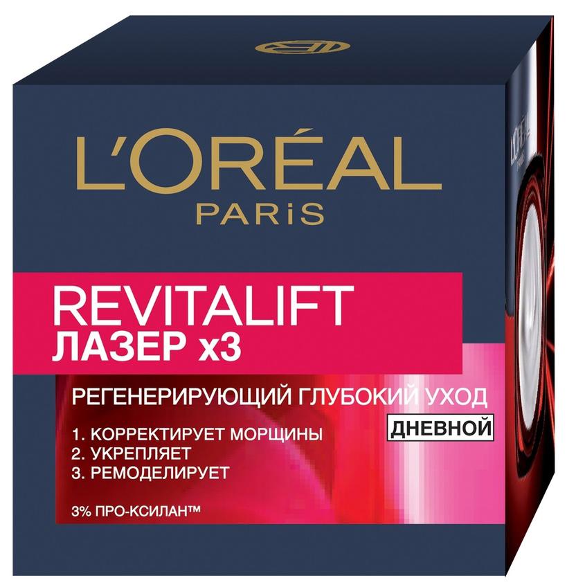 Купить L`OREAL Дневной антивозрастной крем Ревиталифт Лазер х3 против морщин для лица, L'ORÉAL PARIS