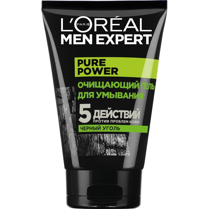 Купить L'ORÉAL PARIS Очищающий Гель для умывания Men Expert 5 действий против проблем кожи с черным углем