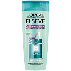 ELSEVE Шампунь для волос 3 Ценные Глины 400 мл