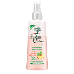 LE PETIT OLIVIER Спрей для облегчения расчесывания, для нормальных волос Персик-Цветок винограда 150 мл  - Купить