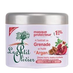 LE PETIT OLIVIER Защищающая маска для окрашенных и/или мелированных волос с экстрактом Граната и маслом Арганы 300 мл