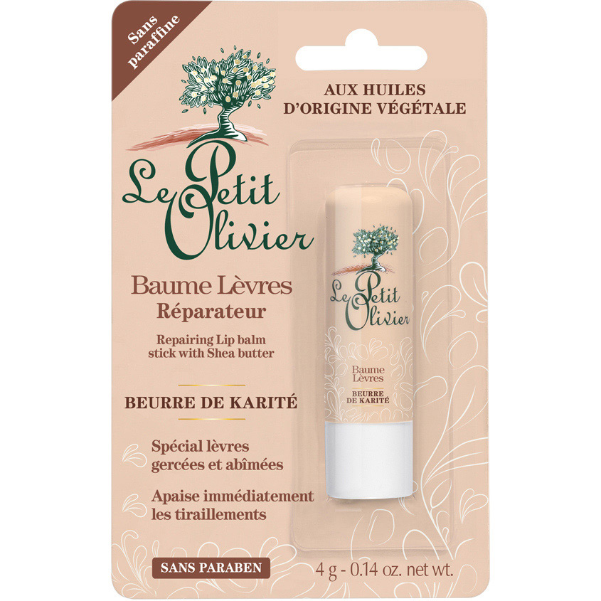 Купить LE PETIT OLIVIER Бальзам для губ восстанавливающий с маслом Карите