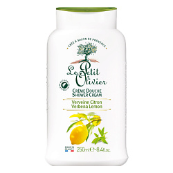 LE PETIT OLIVIER Крем для душа нежный Вербена-Лимон 250 мл le petit olivier нежный крем для душа ежевика и фиалка 250 мл
