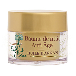 LE PETIT OLIVIER Бальзам для лица ночной восстанавливающий с маслом Арганы 50 мл  - Купить