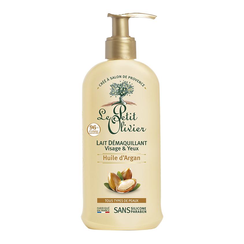 LE PETIT OLIVIER Молочко oчищающее для снятия макияжа глаз и лица с маслом Арганы