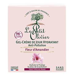 Купить LE PETIT OLIVIER Гель-крем для лица дневной с цветками миндального дерева Защита от агрессивных факторов окружающей среды 50 мл