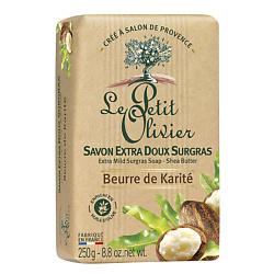 LE PETIT OLIVIER Мыло нежное питательное с маслом Карите (Ши) 250 г