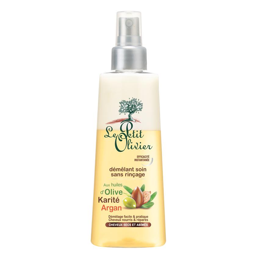 Купить LE PETIT OLIVIER Спрей для облегчения расчесывания для сухих/ломких волос с маслами Оливы, Арганы и Карите, без смывания