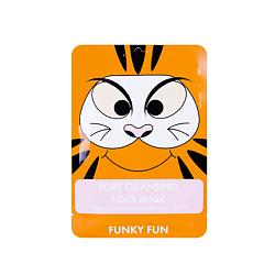 ЛЭТУАЛЬ Очищающая поры маска для лица Тигр Funky Fun 1 шт.