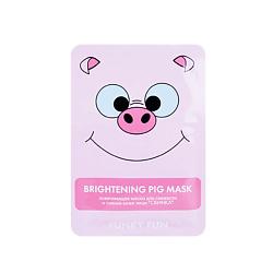 ЛЭТУАЛЬ Осветляющая маска для свежести и сияния кожи лица Свинка Funky Fun 1 шт.