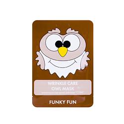 ЛЭтуаль selection ЛЭТУАЛЬ Антивозрастная маска для лица Сова Funky Fun 1 шт.