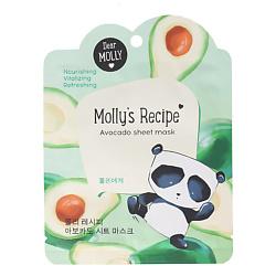 Купить DEAR MOLLY Тканевая маска Рецепты Молли. Авокадо 1 шт.