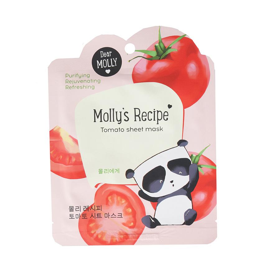 DEAR MOLLY Тканевая маска «Рецепты Молли. Томат»