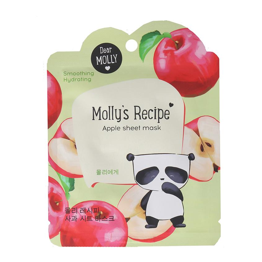 Купить DEAR MOLLY Тканевая маска Рецепты Молли. Яблоко