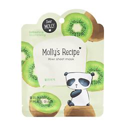 Купить DEAR MOLLY Тканевая маска Рецепты Молли. Киви 1 шт.