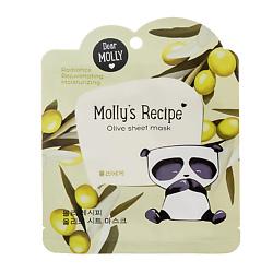 Купить DEAR MOLLY Тканевая маска Рецепты Молли. Олива 1 шт.