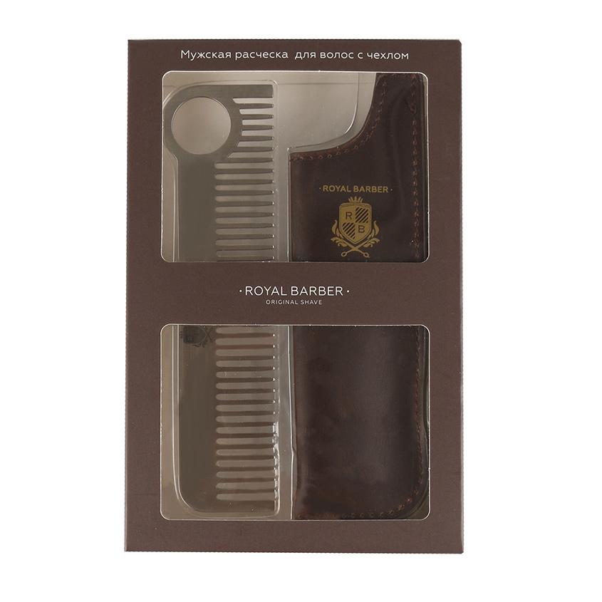 ROYAL BARBER Мужская расческа с чехлом Royal Barber для волос ROYAL BARBER Мужская расческа с чехлом Royal Barber для волос
