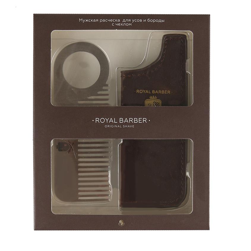 ROYAL BARBER Мужская расческа с чехлом Royal Barber для бороды ROYAL BARBER Мужская расческа с чехлом Royal Barber для бороды