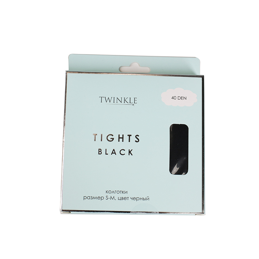 TWINKLE Колготки 40 DEN размер S-M, цвет черный