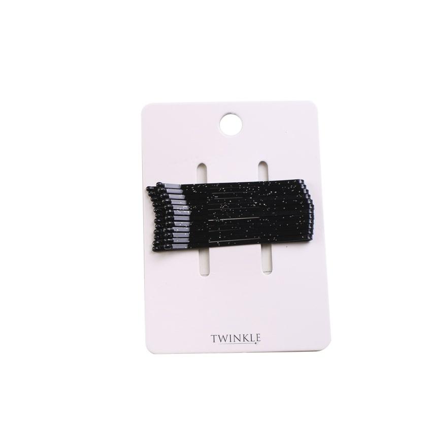 TWINKLE Набор невидимок для волос Black