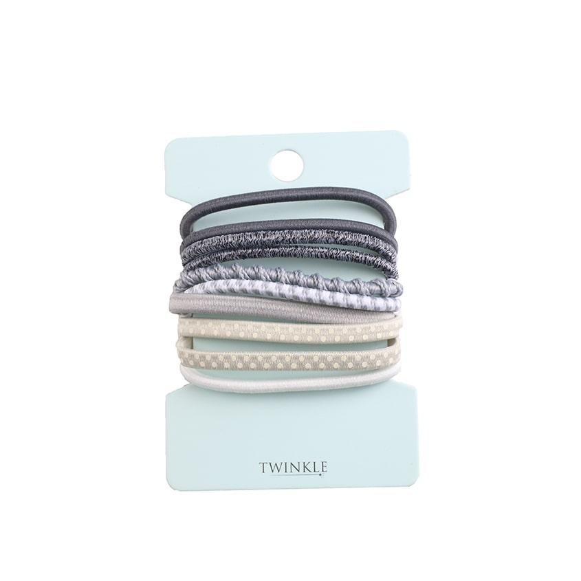 TWINKLE Набор резинок для волос Gray фото