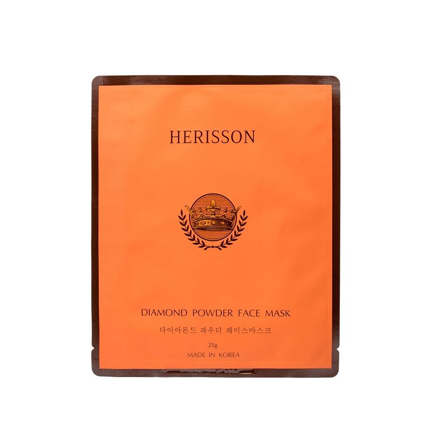 Купить HERISSON Тканевая маска с бриллиантовой пылью для лица