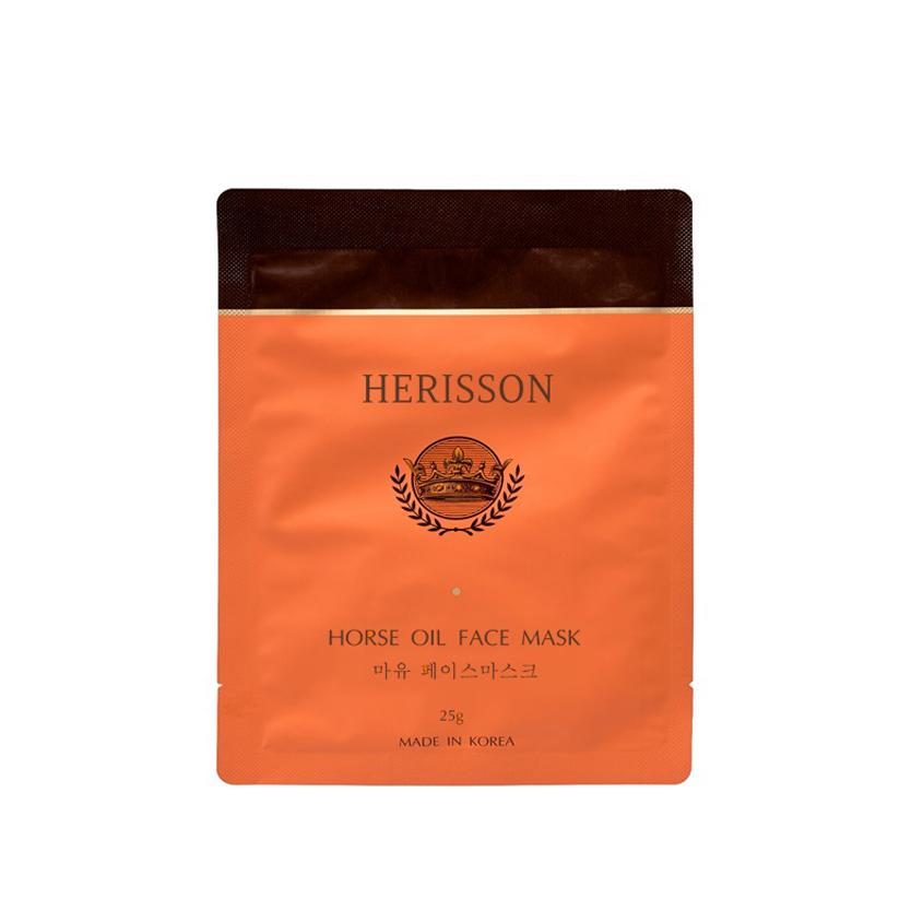 Купить HERISSON Питательная тканевая маска с лошадиным жиром для лица