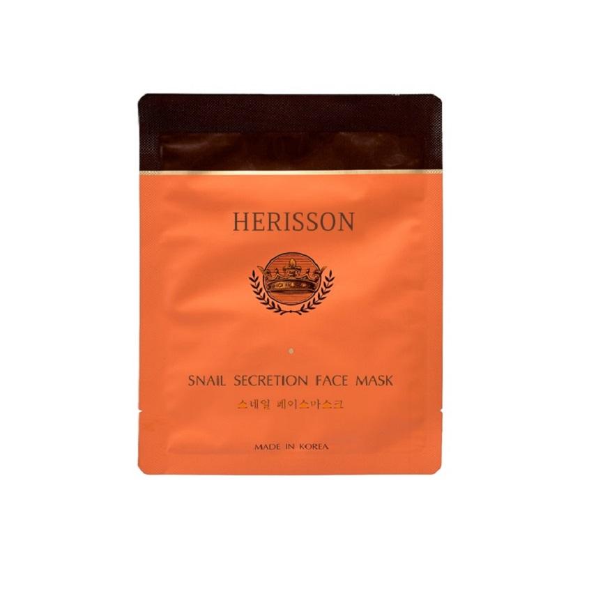 HERISSON Тканевая маска против морщин с секретом улитки для лица  - Купить