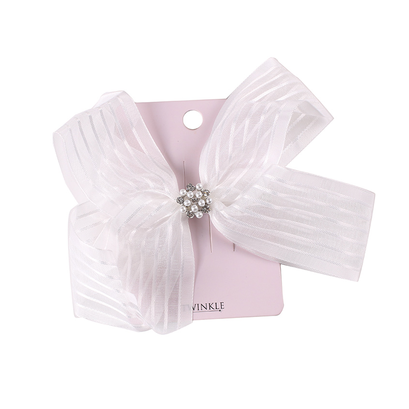TWINKLE Заколка для волос для детей BACK TO SCHOOL бант White Bow