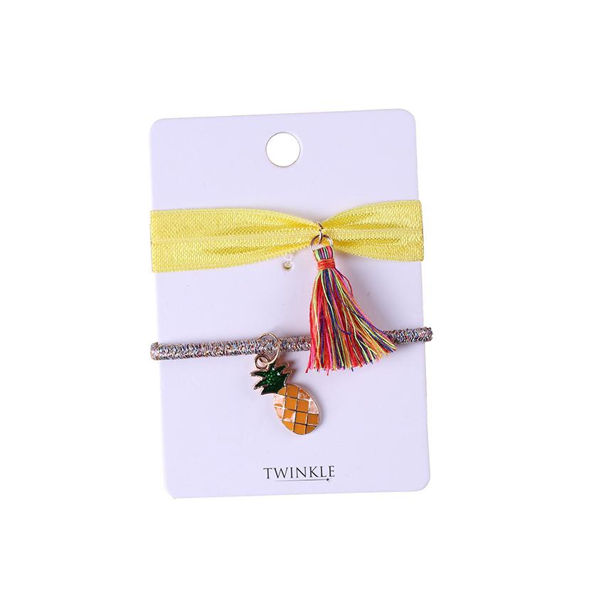 TWINKLE Резинки для волос 2 шт. Pineapple