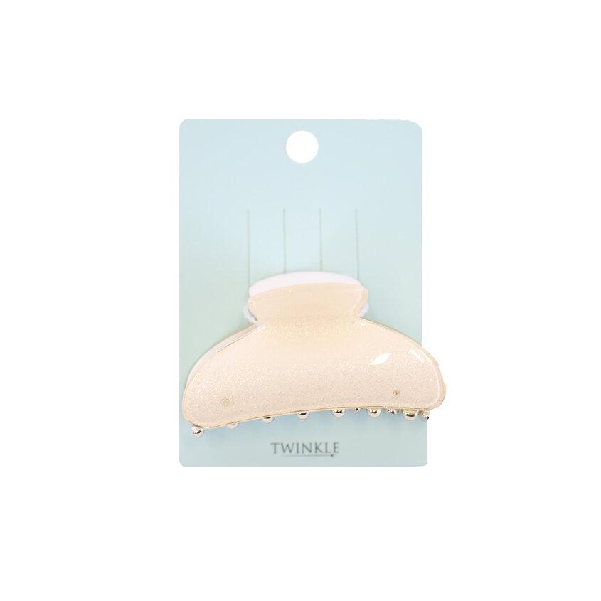 TWINKLE Заколка для волос Beige Crab