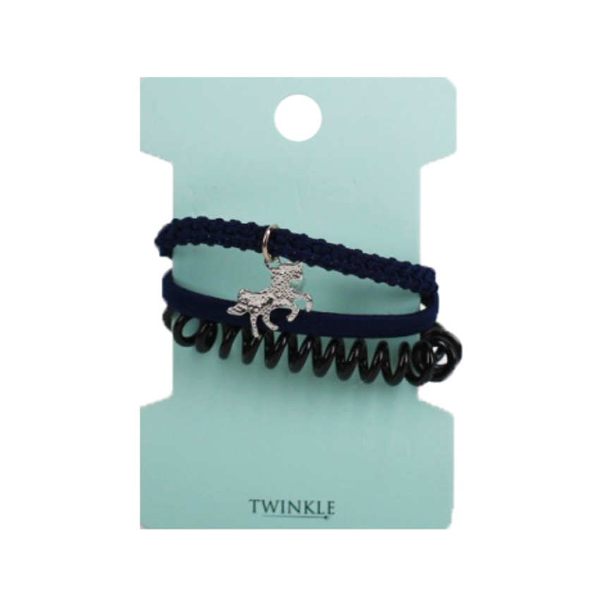 TWINKLE Набор резинок для волос Unicorn Blue