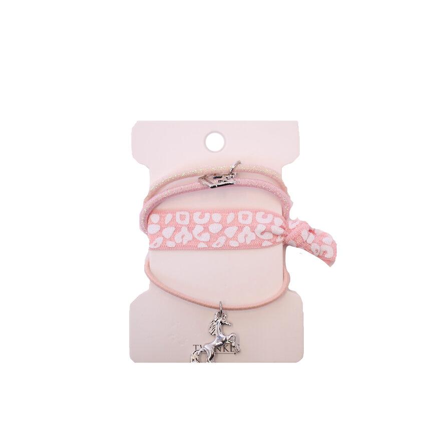 TWINKLE Набор резинок для волос Unicorn Pink