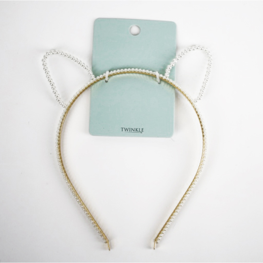 TWINKLE Ободок для волос Cat+Pearl