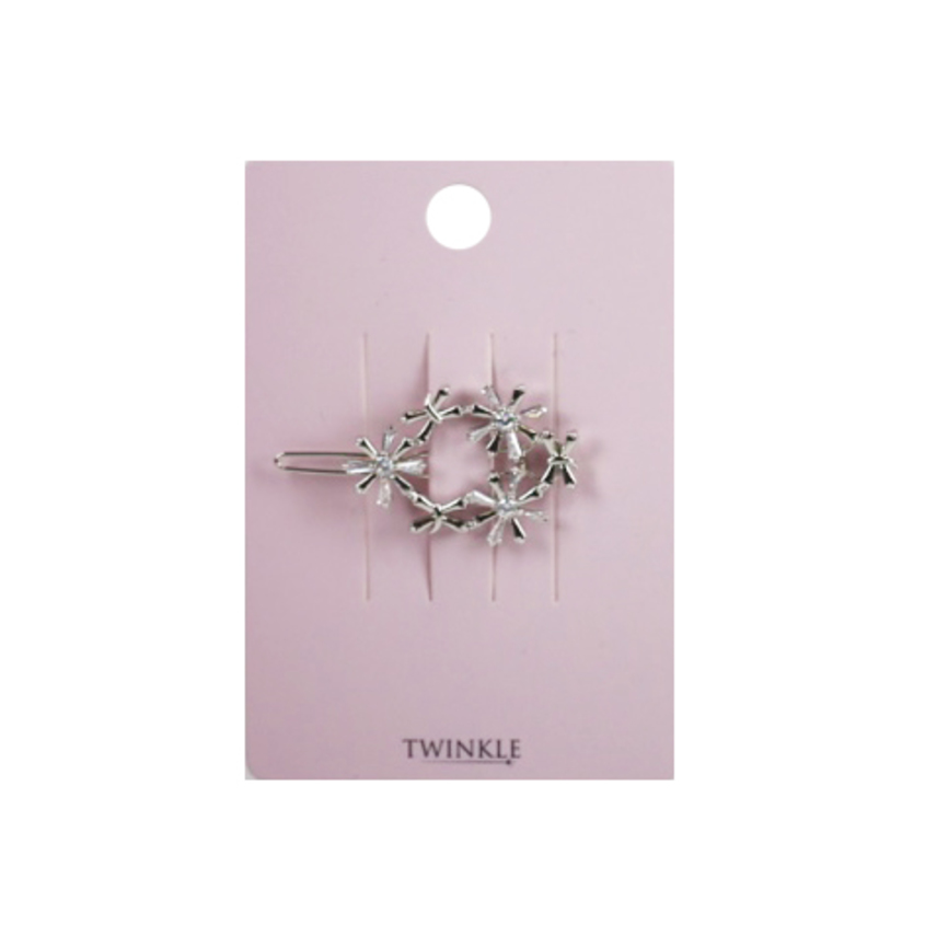 TWINKLE Заколка для волос CZ Flower