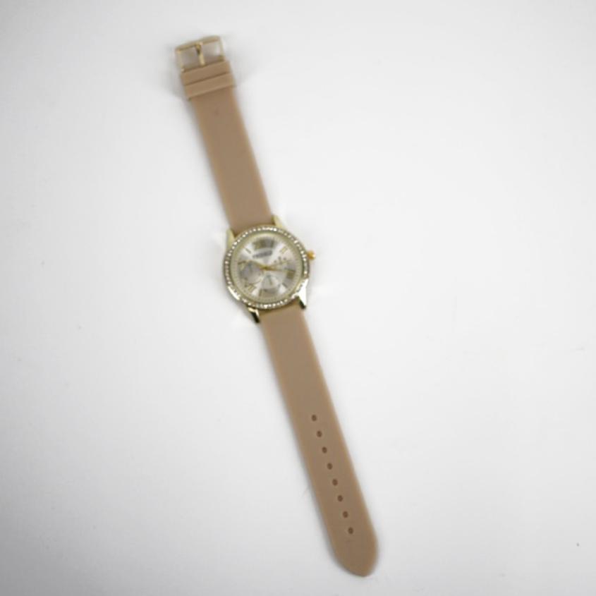 TWINKLE Наручные часы с японским механизмом beige silicon